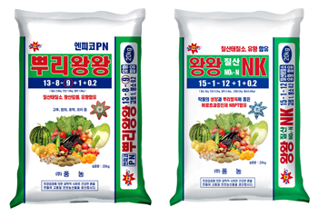 풍농이 기능성 복합비료를 출시했다. 사진은 뿌리왕왕PN(왼쪽)과 왕왕질산NK 제품 모습.